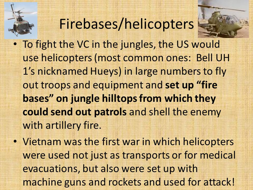 Firebases/helicopters