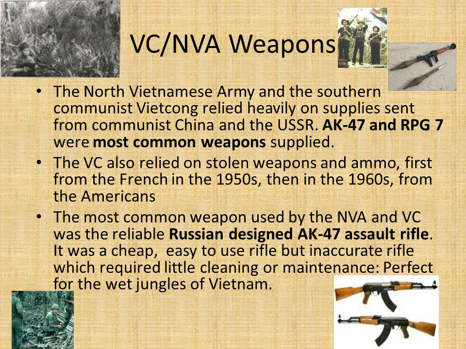 VC/NVA Weapons