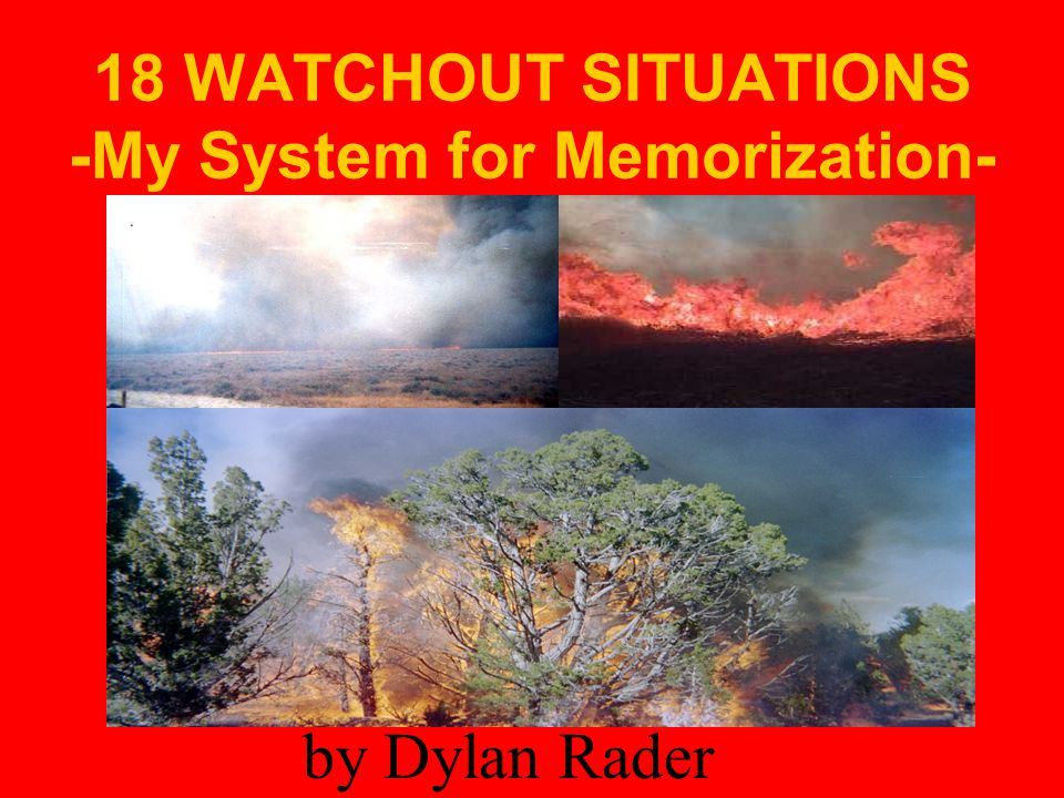 18 WATCHOUT SITUATIONS -My System for Memorization-