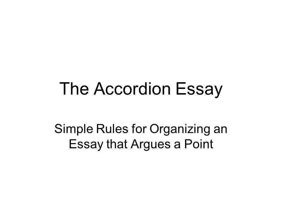 organizing an essay simple rules for organizing an essay that argues a point ppt
