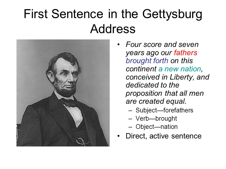 First Sentence in the Gettysburg Address