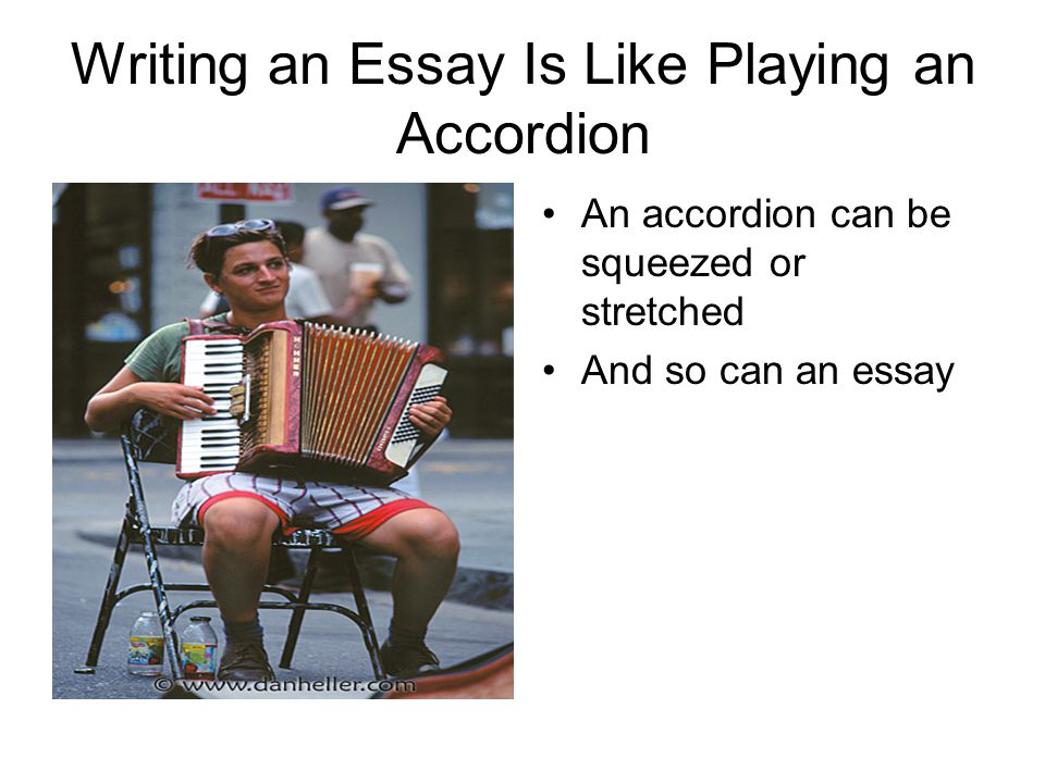 Writing an Essay Is Like Playing an Accordion