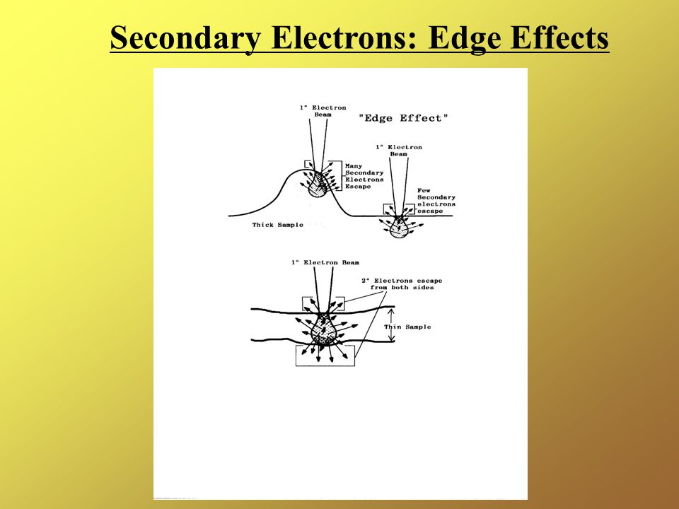 Secondary Electrons: Edge Effects