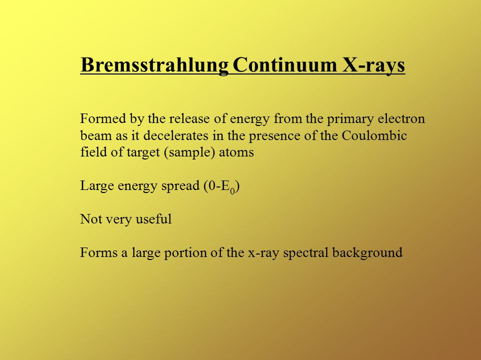 Bremsstrahlung Continuum X-rays