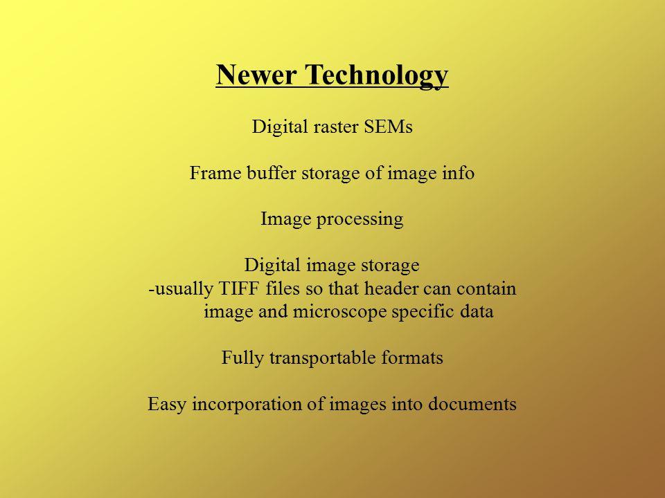 Newer Technology Digital raster SEMs