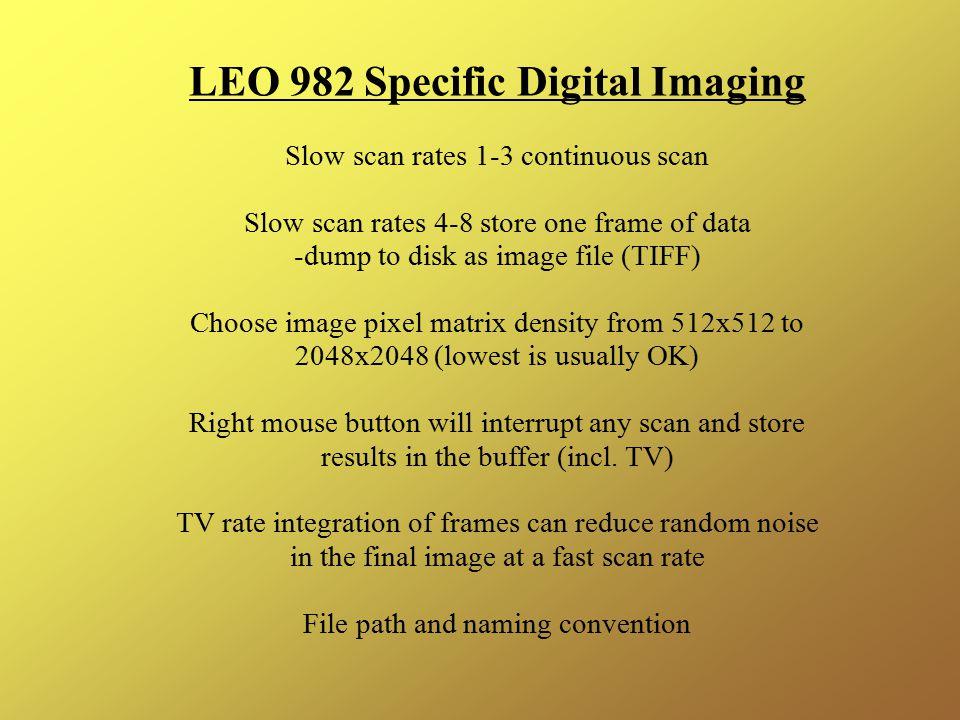 LEO 982 Specific Digital Imaging