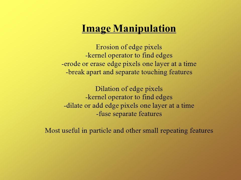 Image Manipulation Erosion of edge pixels