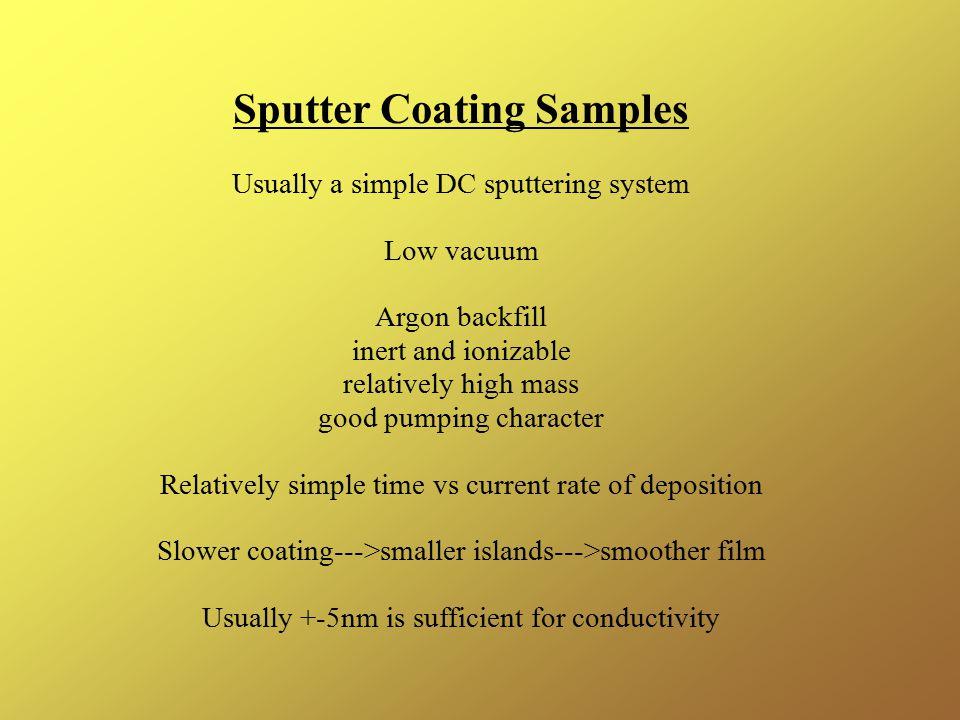 Sputter Coating Samples