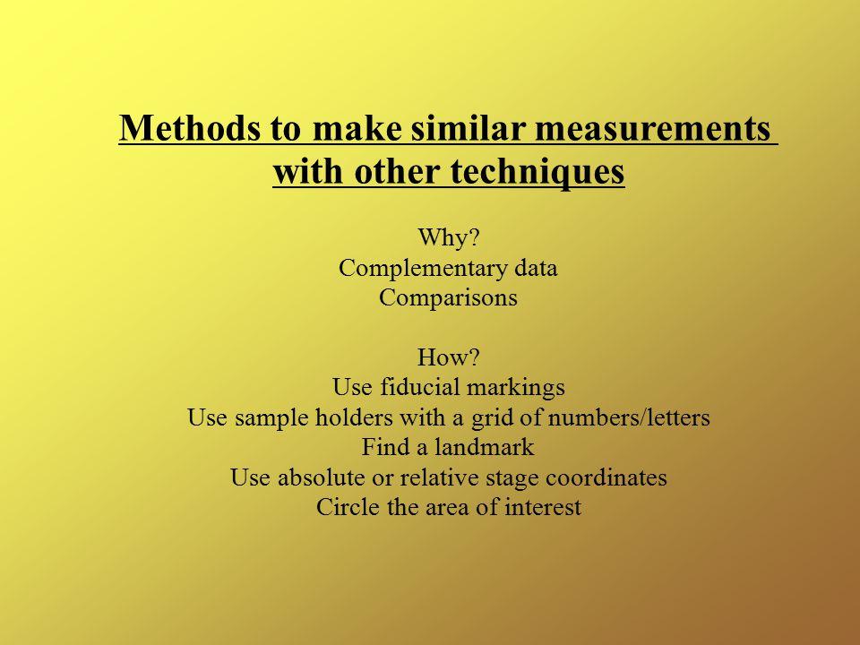 Methods to make similar measurements