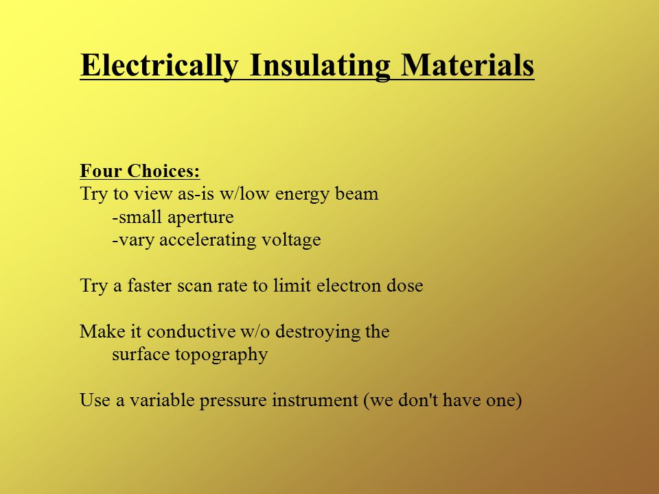 Electrically Insulating Materials