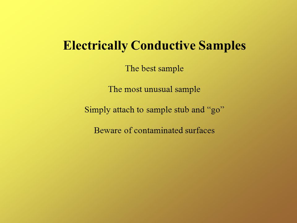 Electrically Conductive Samples