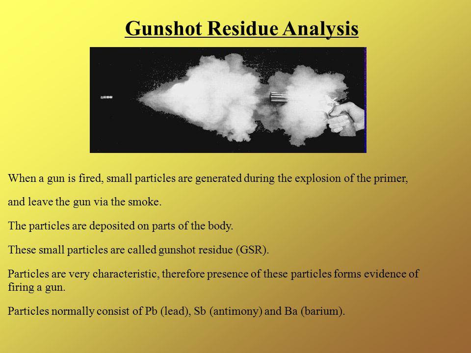 Gunshot Residue Analysis