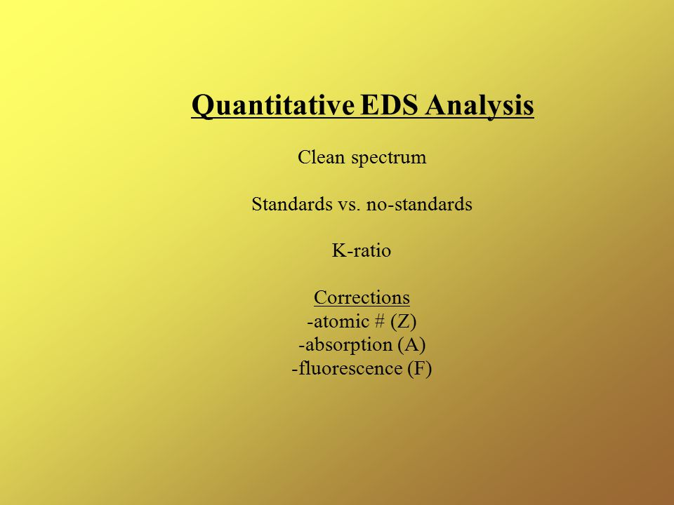 Quantitative EDS Analysis
