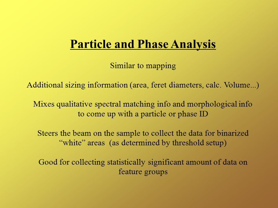 Particle and Phase Analysis