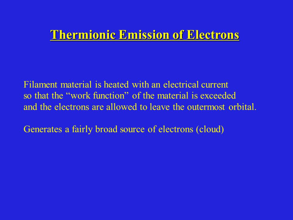 Thermionic Emission of Electrons