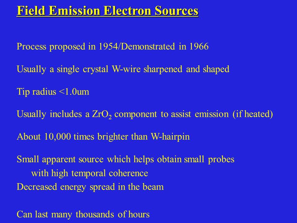 Field Emission Electron Sources