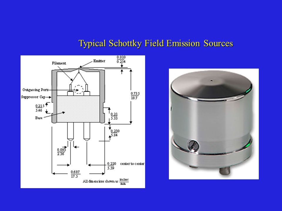 Typical Schottky Field Emission Sources