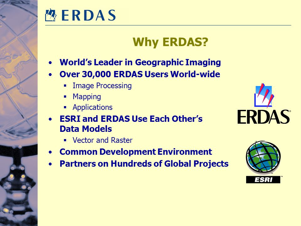 Why ERDAS World's Leader in Geographic Imaging