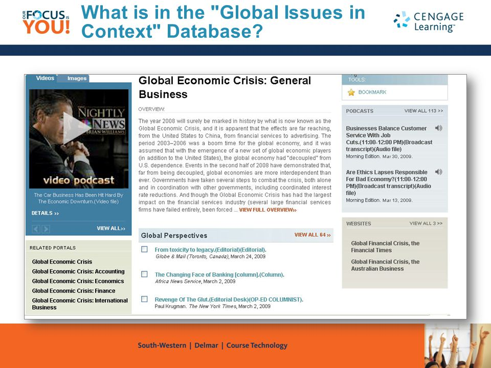 What is in the Global Issues in Context Database