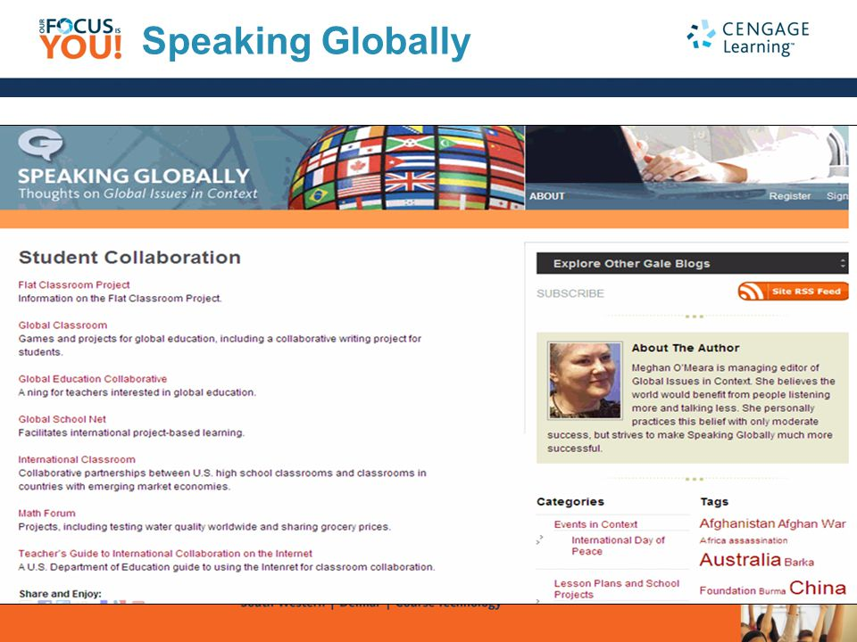 Speaking Globally A place to listen and learn!