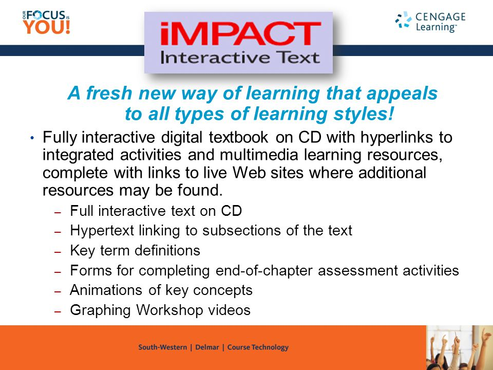 A fresh new way of learning that appeals to all types of learning styles!