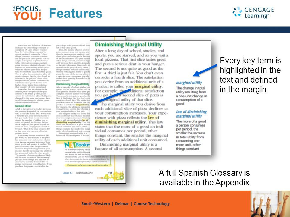 A full Spanish Glossary is available in the Appendix