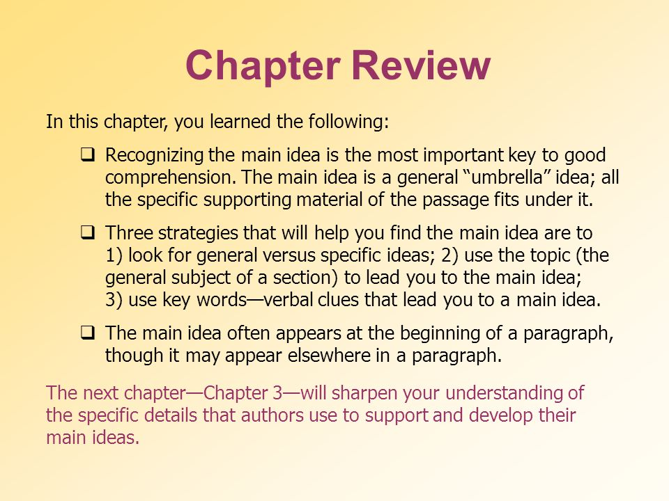 Chapter Review See page 80 in textbook.