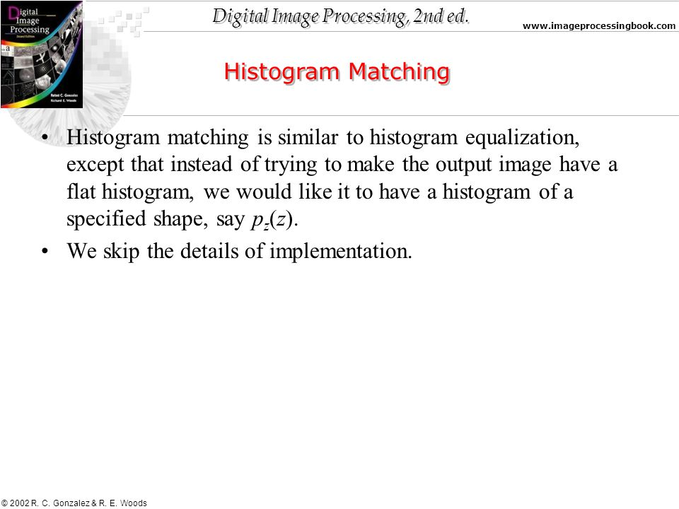 Histogram Matching