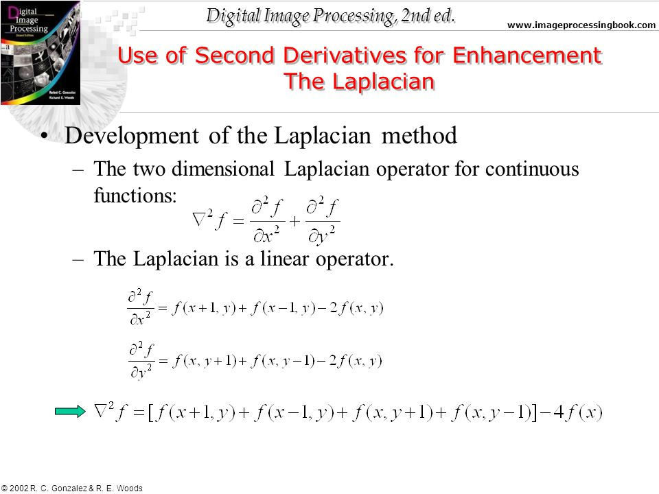 Use of Second Derivatives for Enhancement