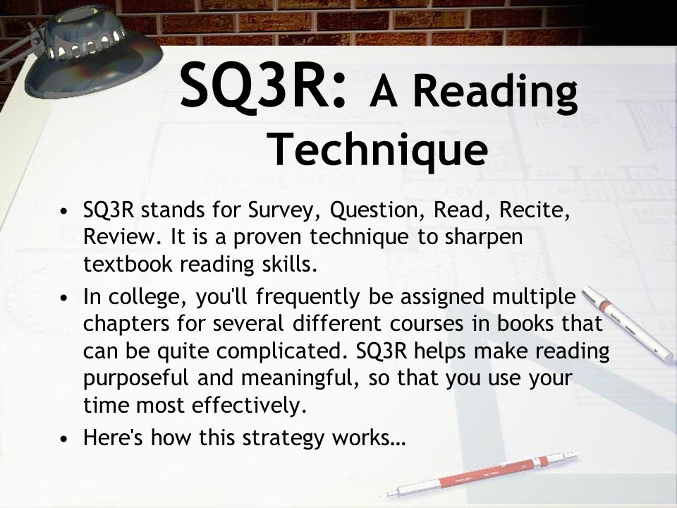 SQ3R: A Reading Technique