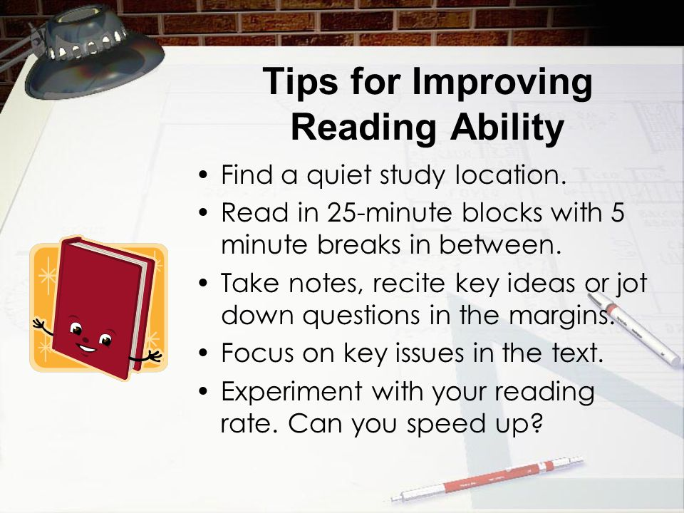 Tips for Improving Reading Ability