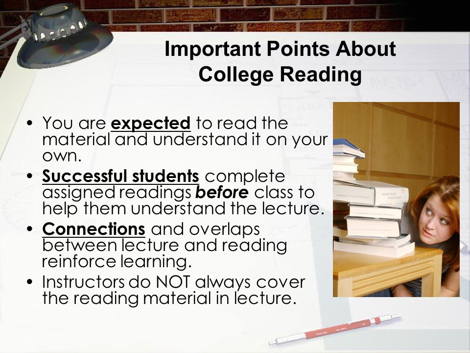 Important Points About College Reading