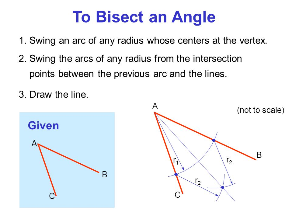 To Bisect an Angle Given