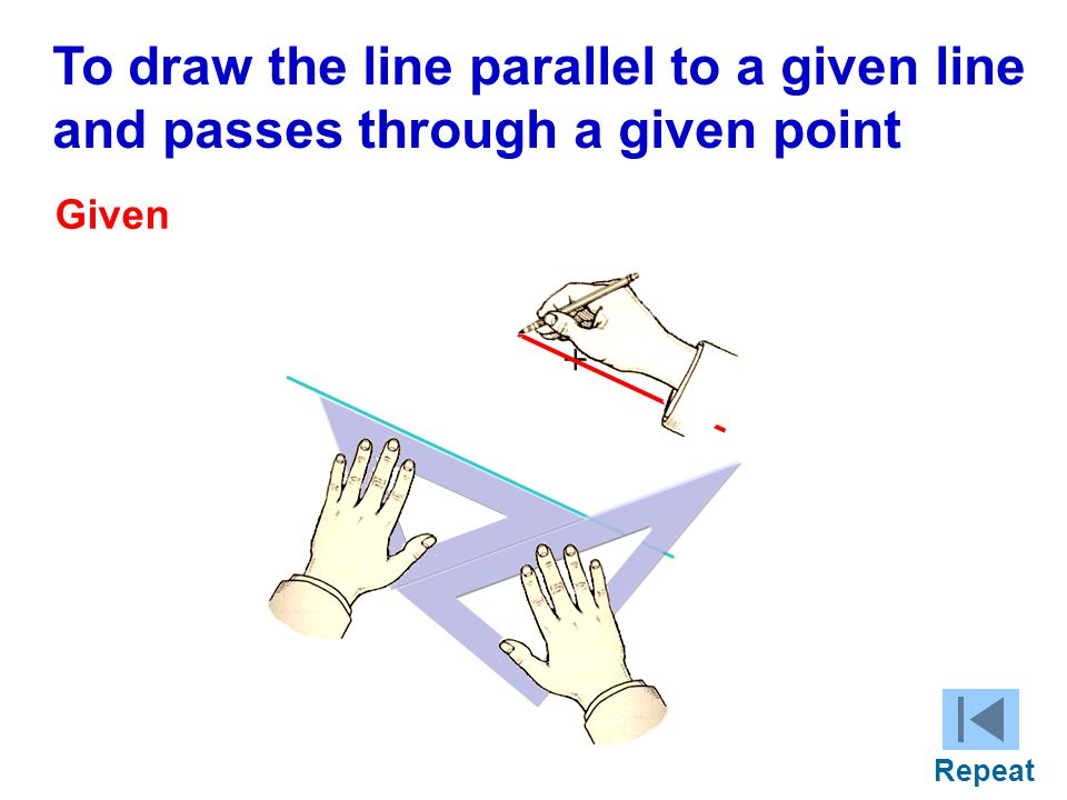 To draw the line parallel to a given line
