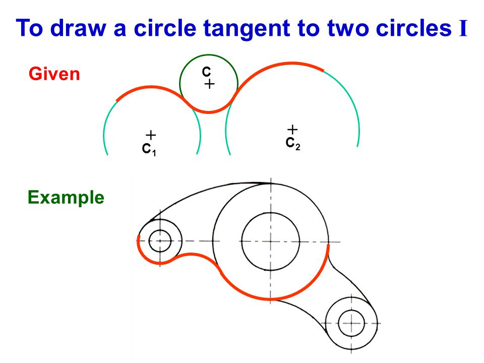 To draw a circle tangent to two circles I