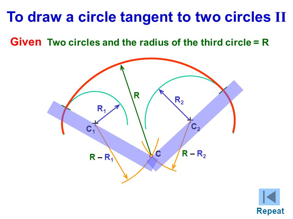 To draw a circle tangent to two circles II