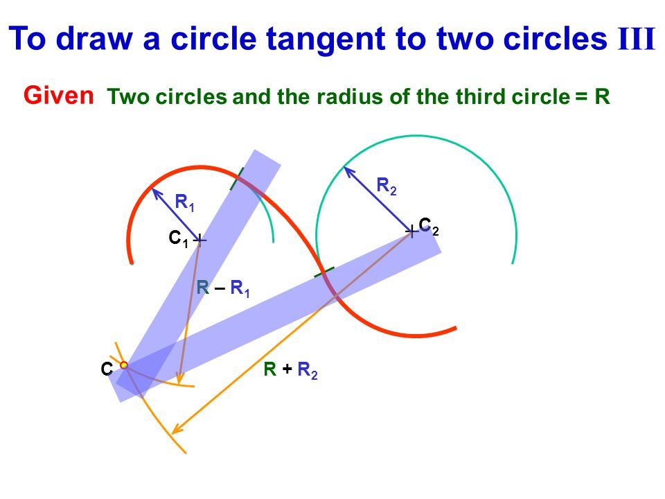 To draw a circle tangent to two circles III