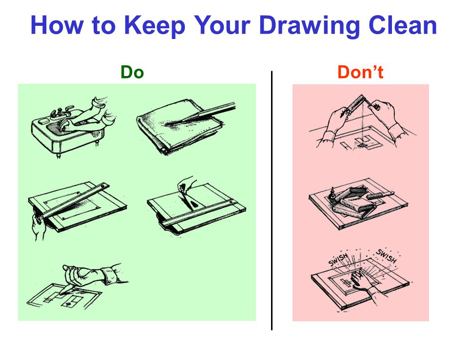 How to Keep Your Drawing Clean