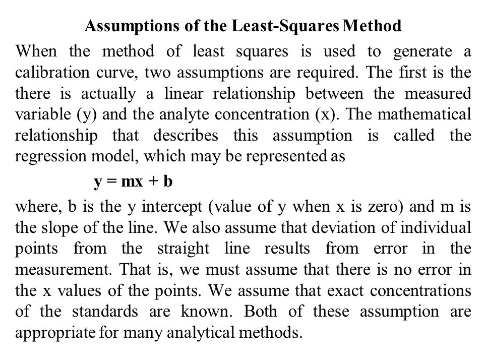 Assumptions of the Least-Squares Method