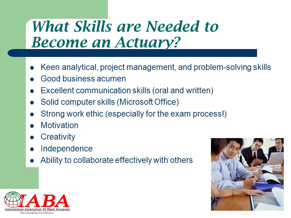 What Skills are Needed to Become an Actuary
