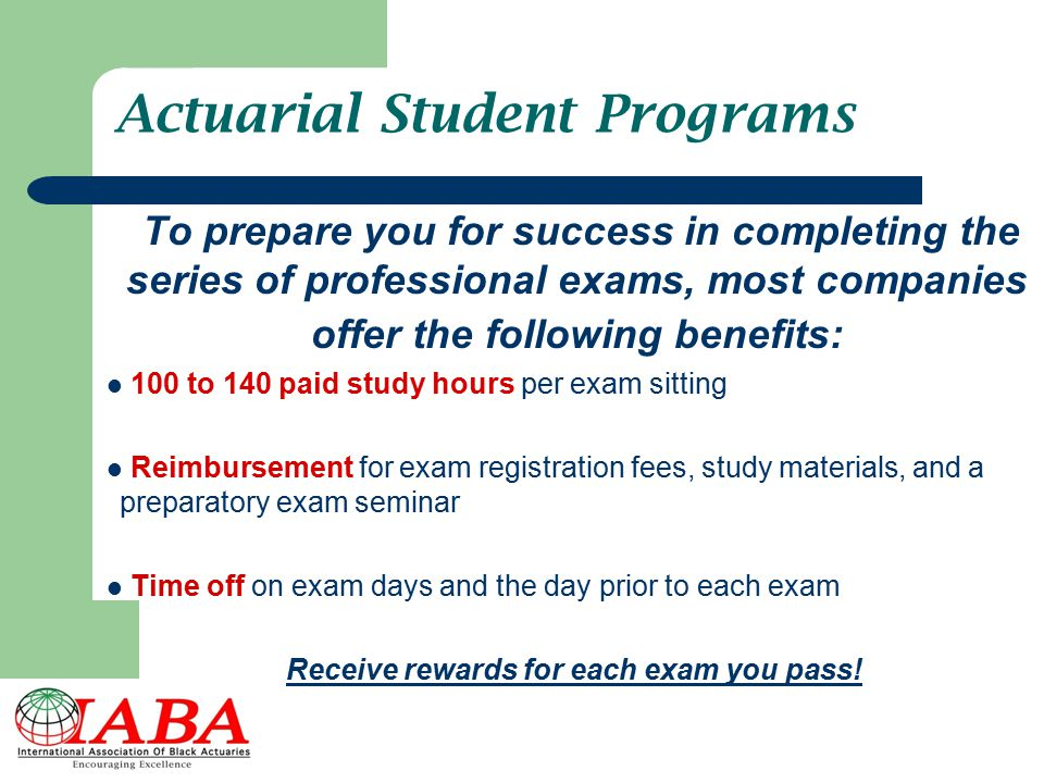 Actuarial Student Programs