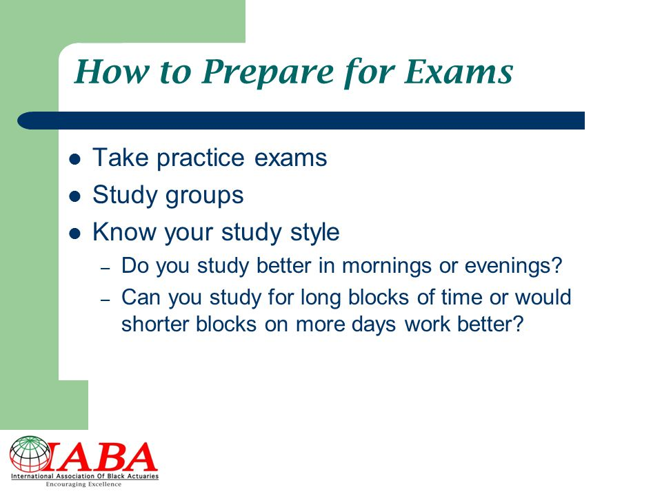 How to Prepare for Exams