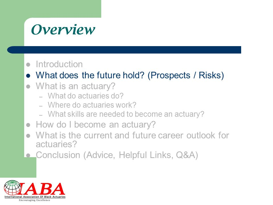 Overview Introduction What does the future hold (Prospects / Risks)