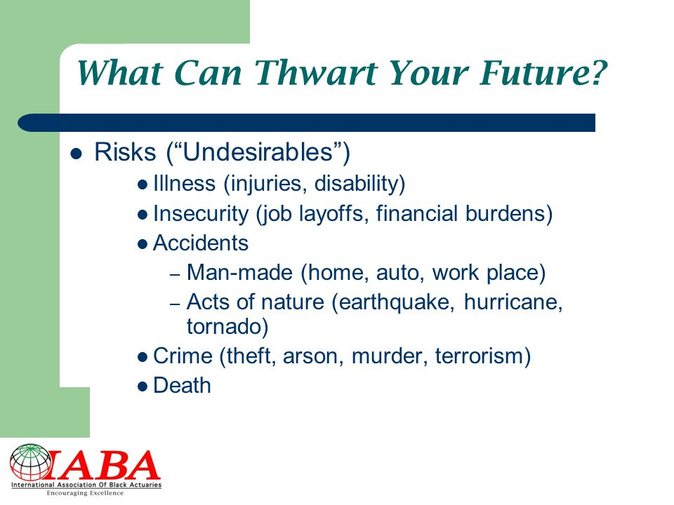 What Can Thwart Your Future