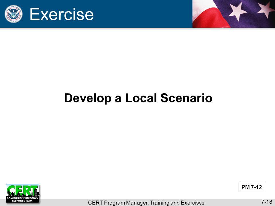 Develop a Local Scenario