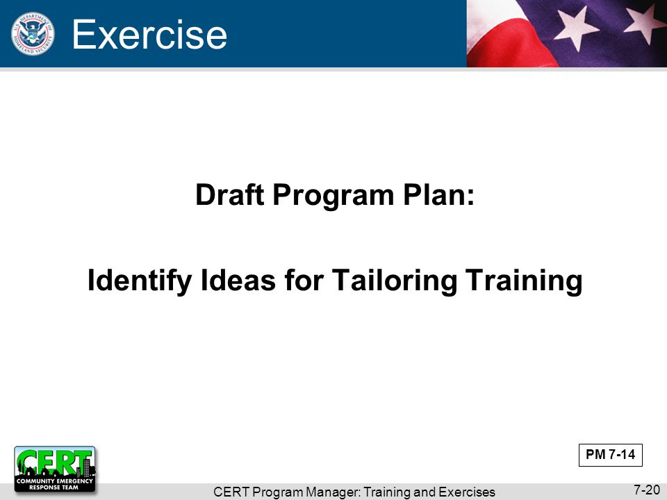 Identify Ideas for Tailoring Training