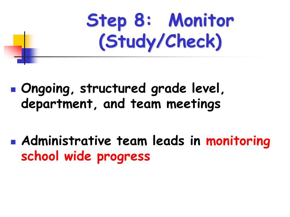 Step 8: Monitor (Study/Check)