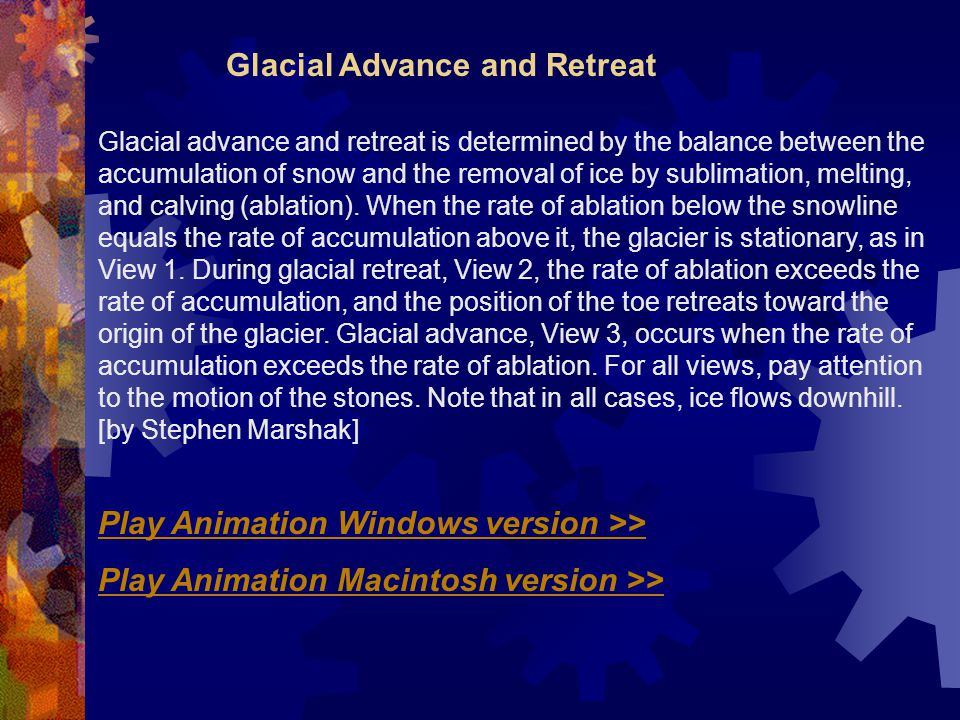 Glacial Advance and Retreat