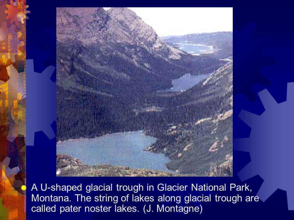 A U-shaped glacial trough in Glacier National Park, Montana