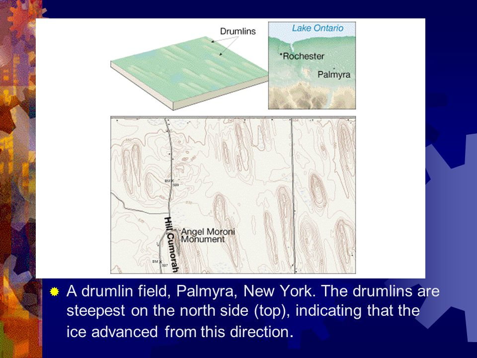 A drumlin field, Palmyra, New York